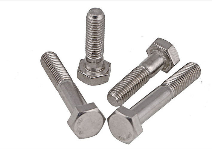 M5 M6 M8 Dacromet Finish Hex Head Bolts , Half Thread Metric Hex Head Screws DIN 931
